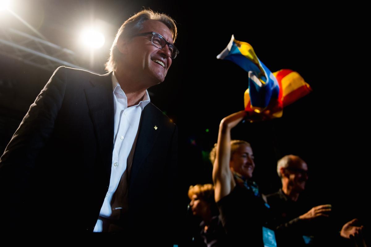 Artur Mas, durante un acto electoral de Junts pel Sí celebrado el pasado mes de septiembre (Foto: Getty)