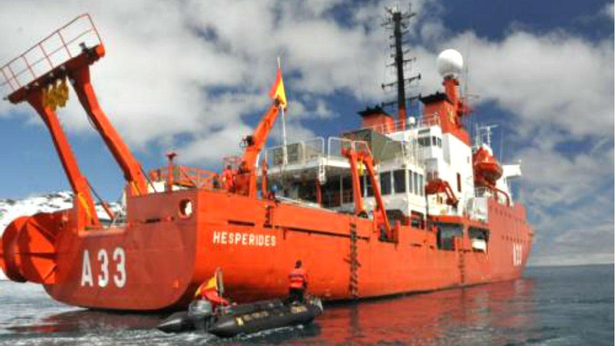Imagen del buque Hespérides (Foto: Armada Española)