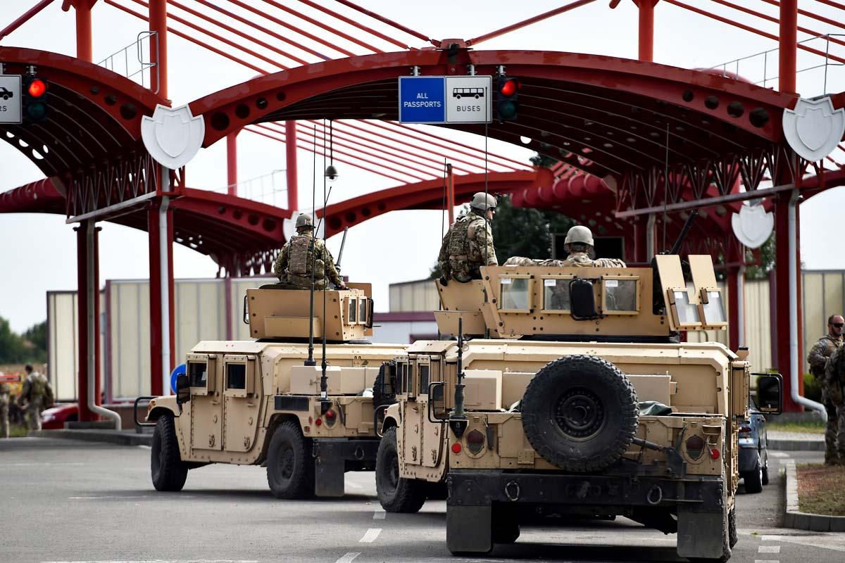 Seguridad militar en las fronteras de Hungría (Foto: Getty)