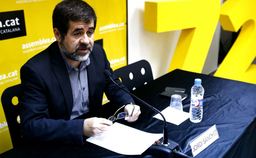 """Jordis Sànchez, presidente de la ANC: """"El Estado español ha enloquecido, son unos animales"""""""