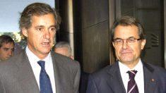 El presidente de Acciona, José Manuel Entrecanales, con el ex presidente de la Generalitat, Artur Mas. (Foto: EFE)