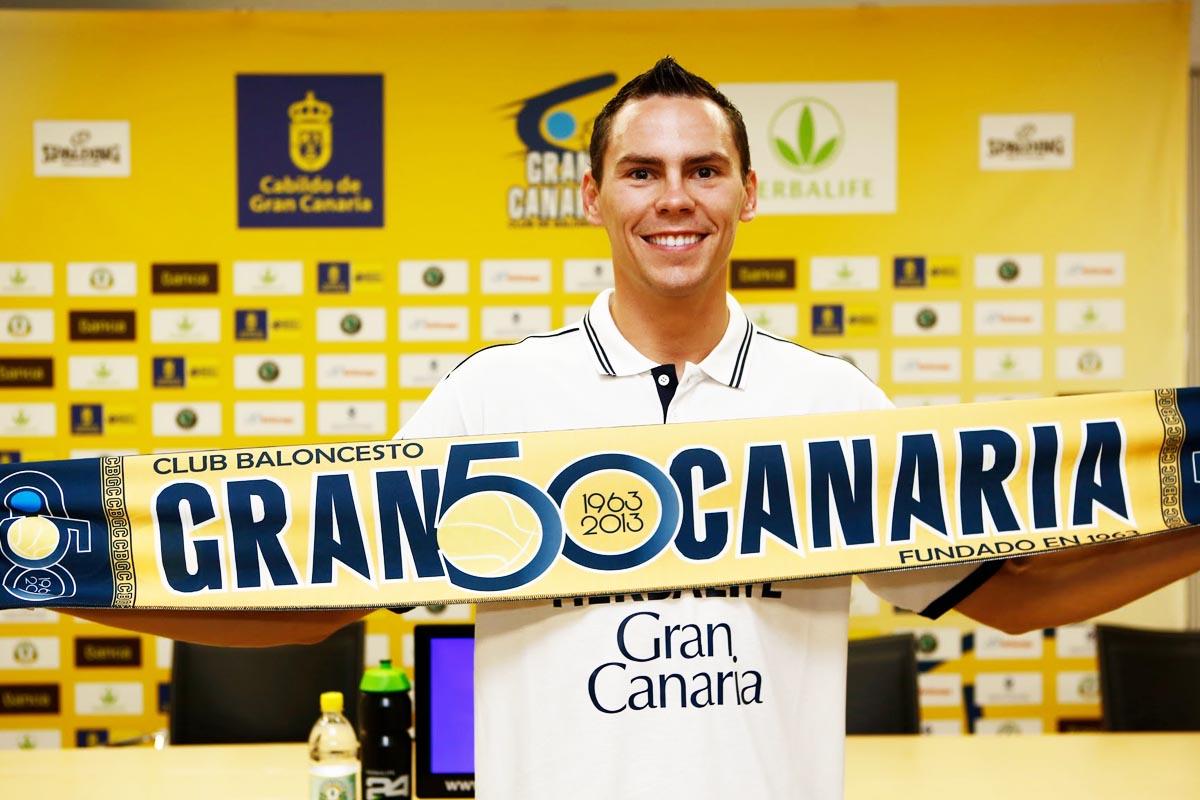 Kyle Kuric, en su presentación en Gran Canaria (Foto: Herbalife Gran Canaria)