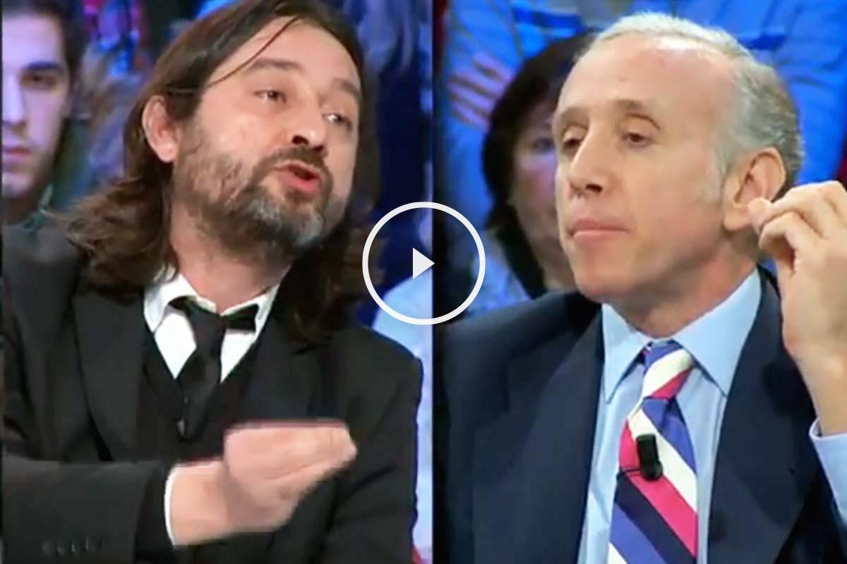 Rafael Mayoral (Podemos) y Eduardo Inda, hoy en La Sexta Noche