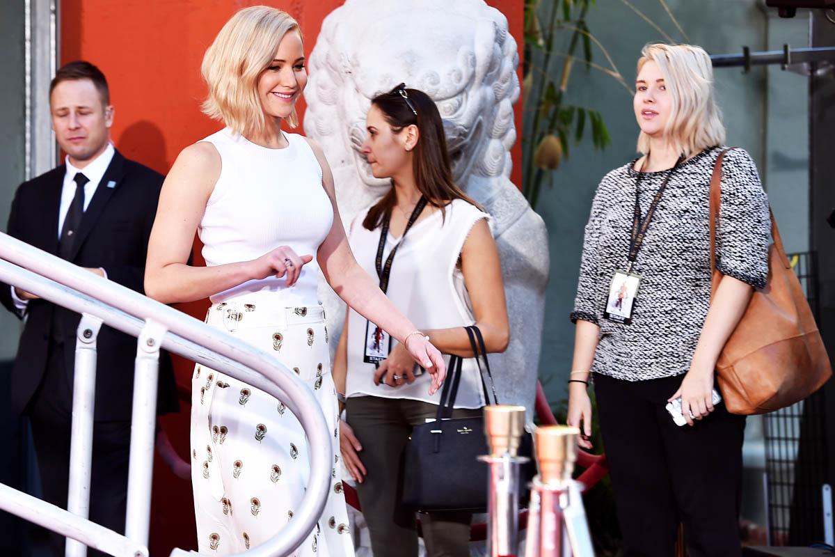 Jennifer Lawrence, durante la presentación de la cuarta entrega de 'Los Juegos del Hambre' (Foto: Getty)