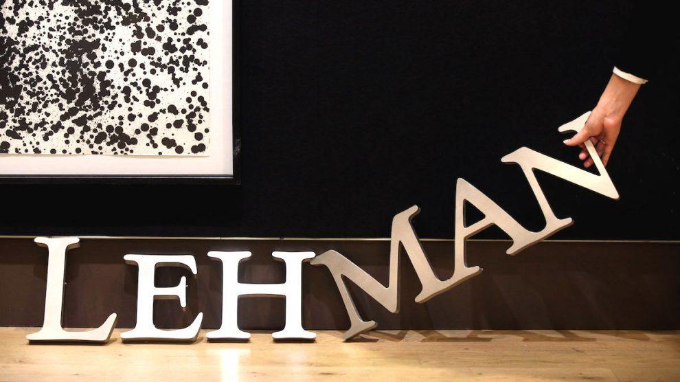 Logotipo de Lehman Brothers en una casa de subastas. (Foto: GETTY)