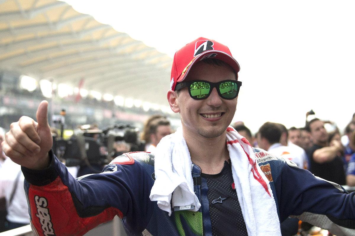 Jorge Lorenzo feliz por el resultado en Malasia. (Getty)