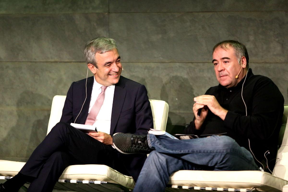 Luis Garicano y Antonio García Ferreras en la Fundación Rafael del Pino de Madrid.