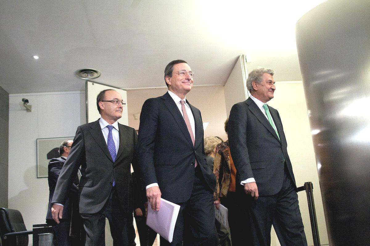 Luis Linde junto con Mario Draghi (Foto: GETTY)