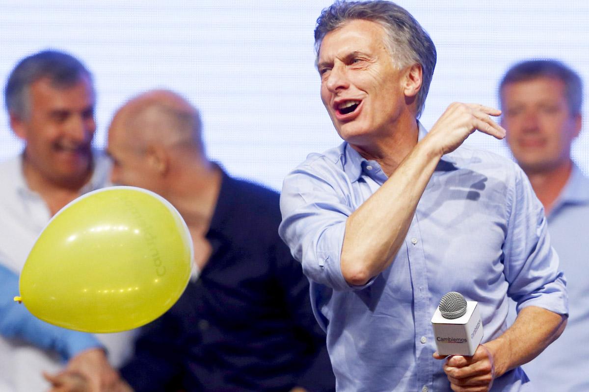 Mauricio Macri, celebrando su victoria en las elecciones presidenciales (Foto: Reuters)