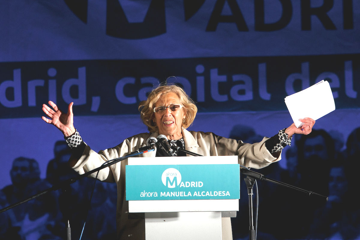 La alcaldesa de Madrid Manuela Carmena (Foto: GETTY).