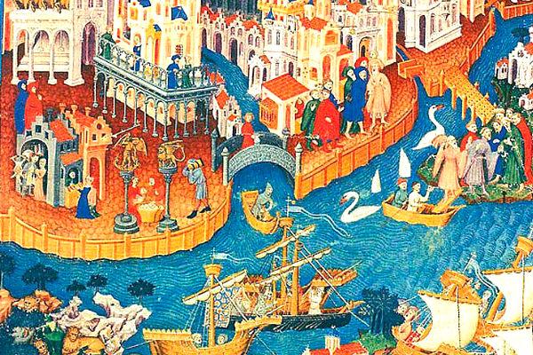 Imagen del lienzo Los viajes de Marco Polo