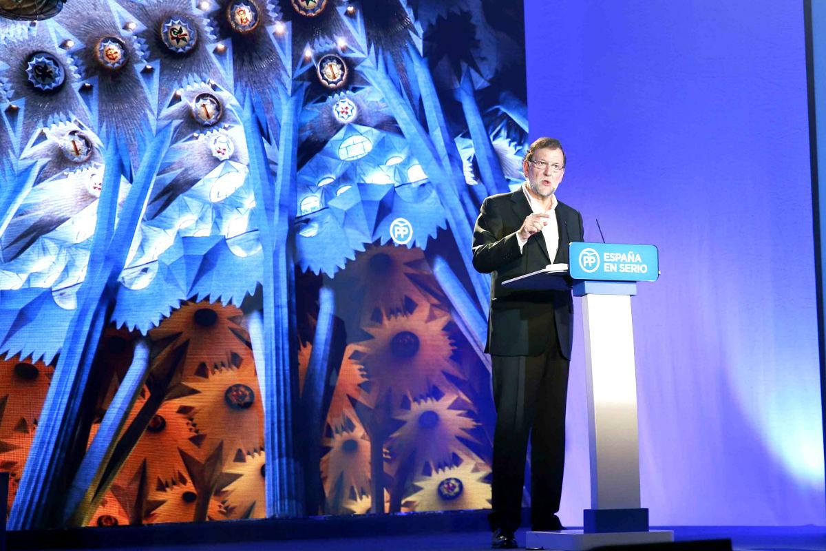 El presidente Mariano Rajoy, en un acto del PP celebrado hoy en Cataluña (Foto: Efe)