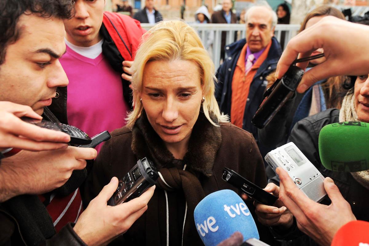 Marta Domínguez hablando a los medios de comunicación (Foto: Getty)