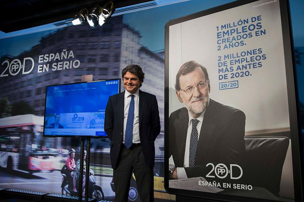 Jorge Moragas cuando era director de campaña de Mariano Rajoy, en noviembre de 2015.