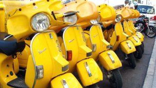 Motocicletas que utilizan los carteros de Correos.