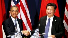 Barack Obama y el presidente de China Xi Jinping se saludan en París (Foto: Reuters)