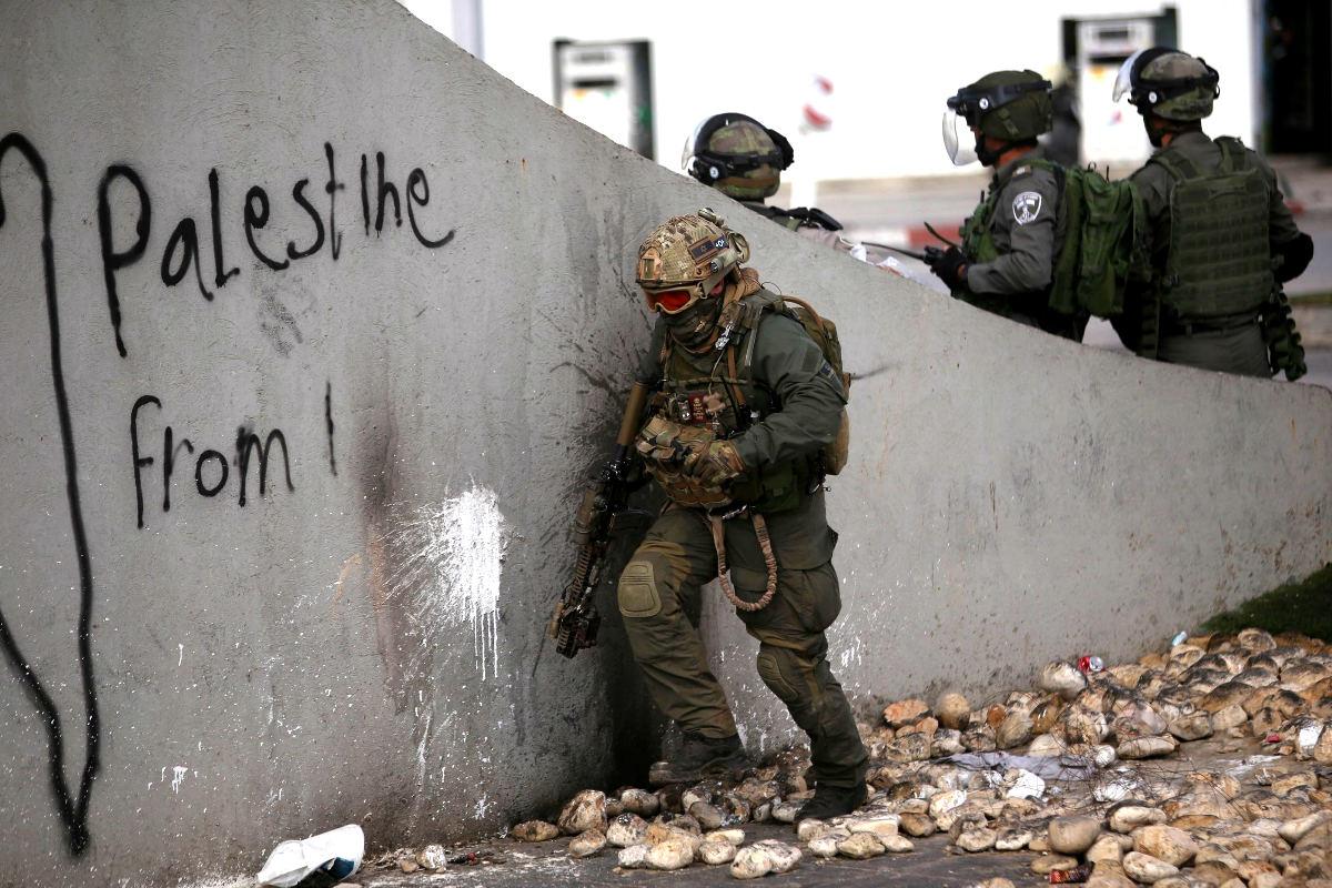 Policía israelí en acción (Foto: Getty)