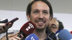 Pablo Iglesias en una rueda de prensa. (Foto: EFE)