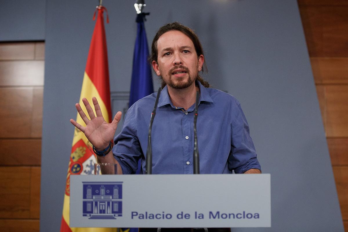 Pablo Iglesias el viernes en La Moncloa, tras reunirse con el presidente Mariano Rajoy (Foto: Getty)