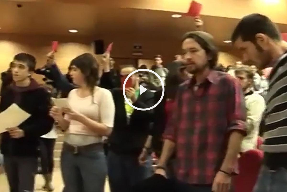 Vídeo de Pablo Iglesias en el scratche a Rosa Díez.