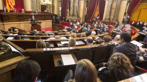 El Parlament catalán, durante un pleno. (Foto: Getty)