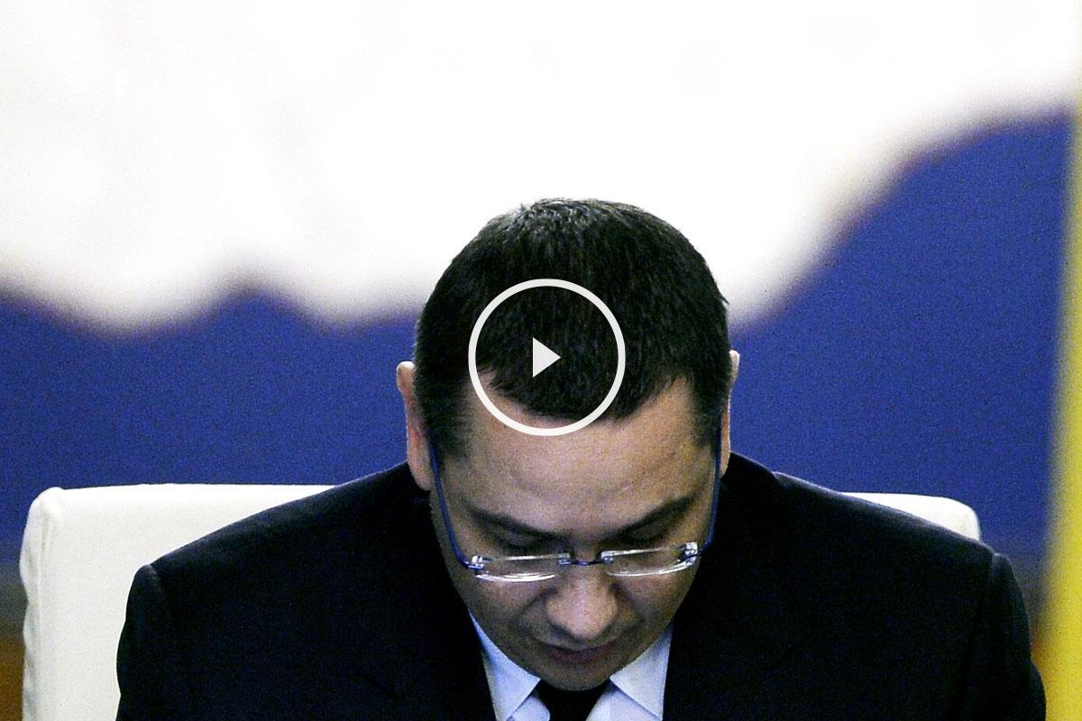 Victor Ponta, tras anunciar su dimisión como primer ministro (Foto: Reuters)