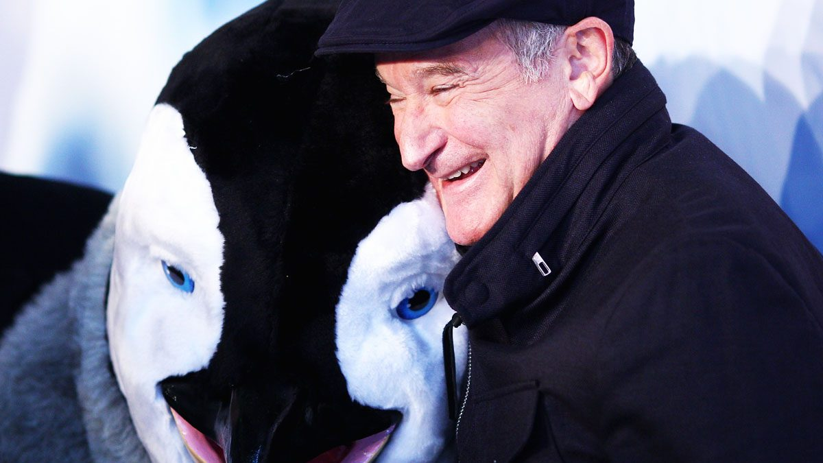 Robin Williams en uno de sus últimos trabajos, 'Happy Feet 2' (Foto: Getty)