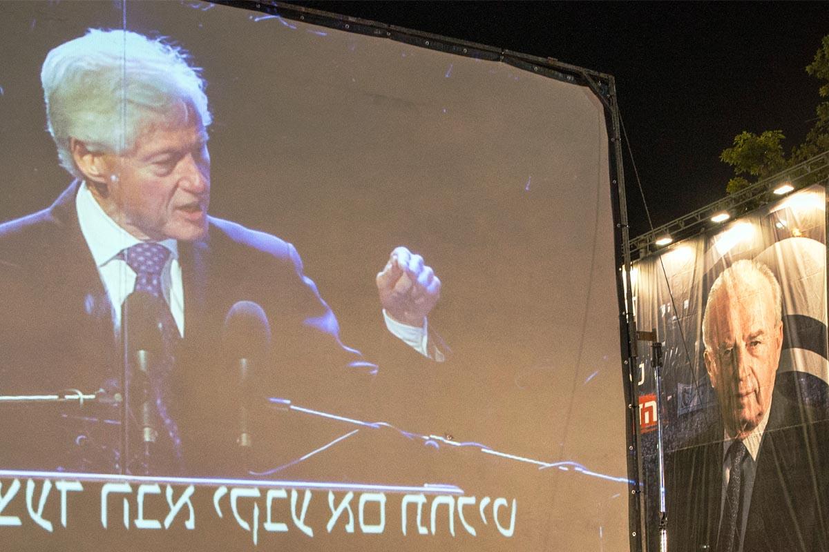 Actos de conmemoración del asesinato de Isaac Rabin. (Foto: AFP)