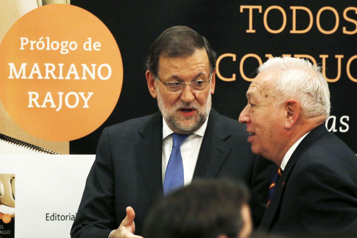 Mariano Rajoy, durante la presentación del libro del ministro Margallo (Foto: EFE)