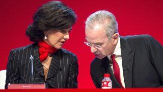 La presidenta del Santander, Ana Patricia Botín, junto con el consejero Ignacio Benjumea. (Foto: EFE)