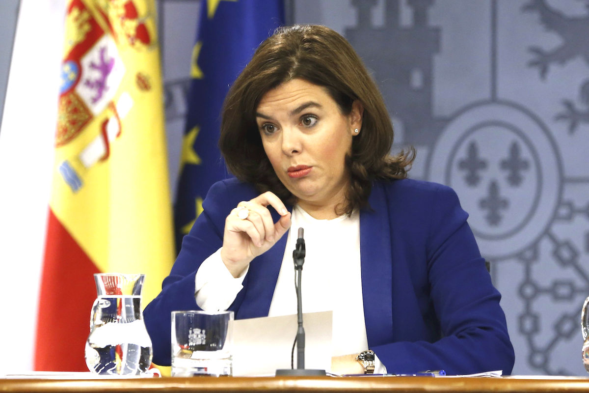 La vicepresidenta del Gobierno, Soraya Saenz de Santamaría. (Foto: EFE)