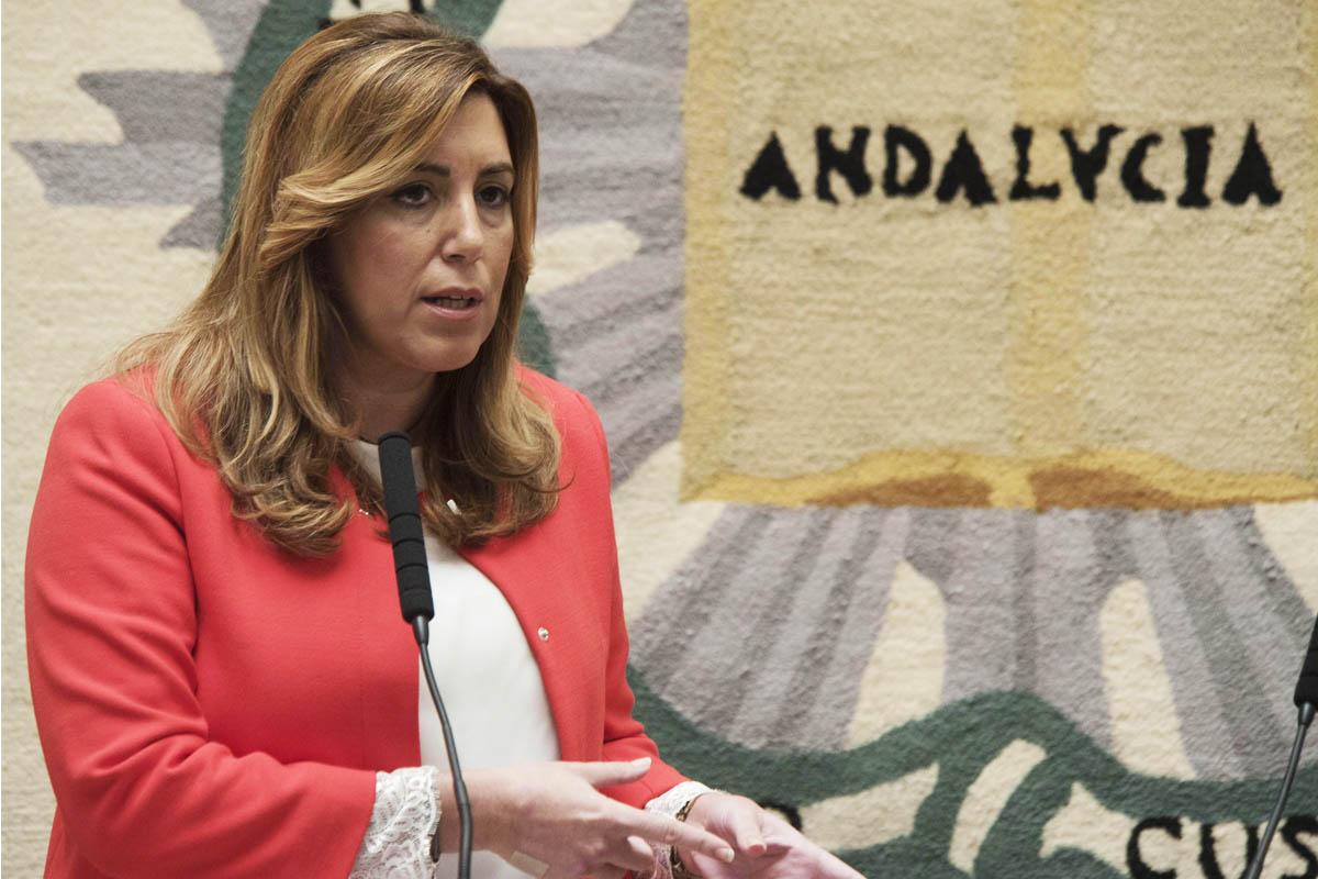 Susana Díaz durante una comparecencia de prensa. (Foto: EFE)