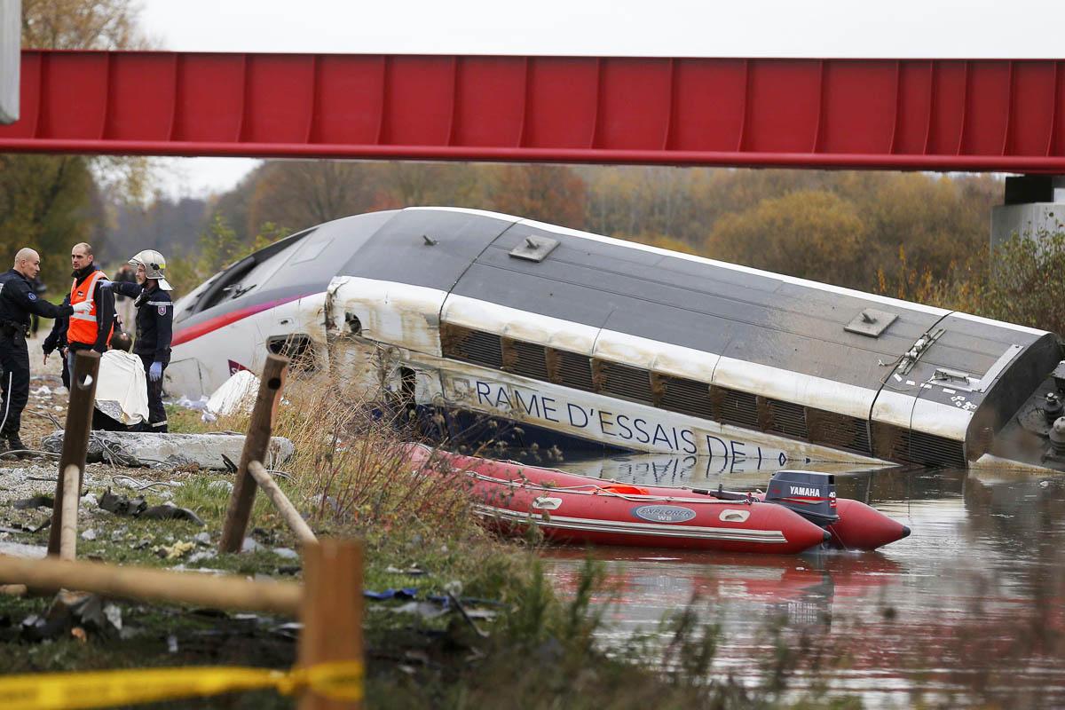 Imagen de un accidente de tren.