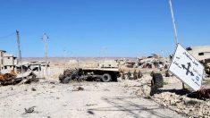 Camión dañado en territorio controlado por el Estado Islámico (Foto: Getty)