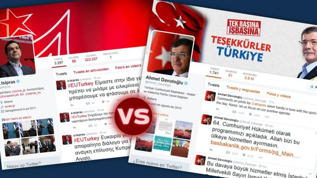 Tsipras y Davutoğlu protagonizan una dura disputa en Twitter tras la cumbre UE-Turquía