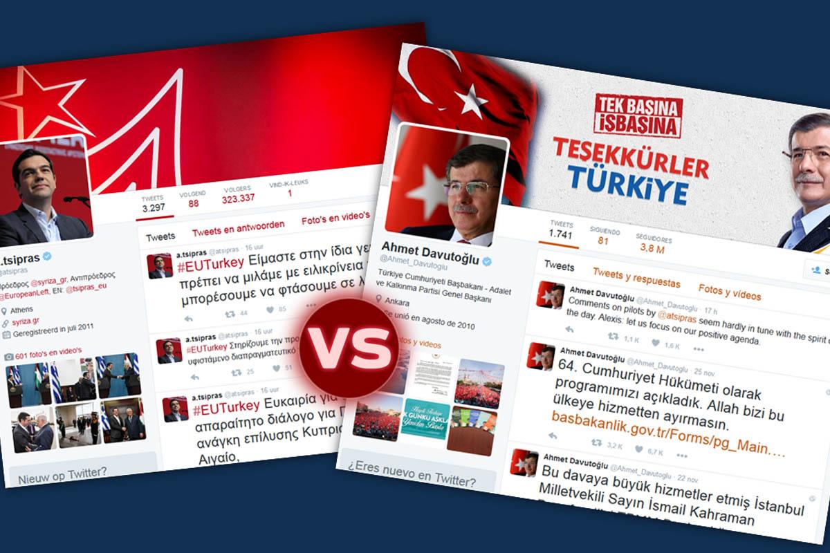 Intercambio de pareceres en las redes sociales entre los 'premiers' de Grecia y Turquía