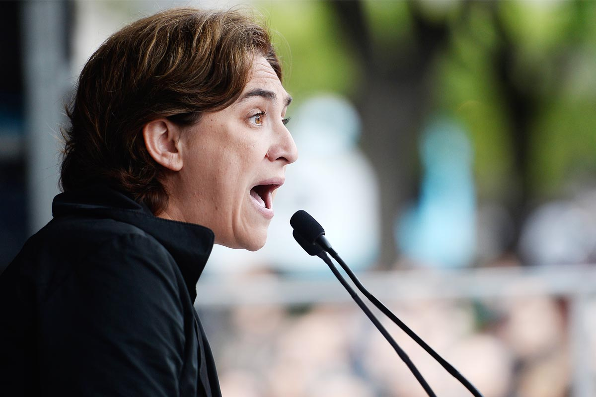 La alcaldesa de Barcelona, Ada Colau (Foto: AFP)