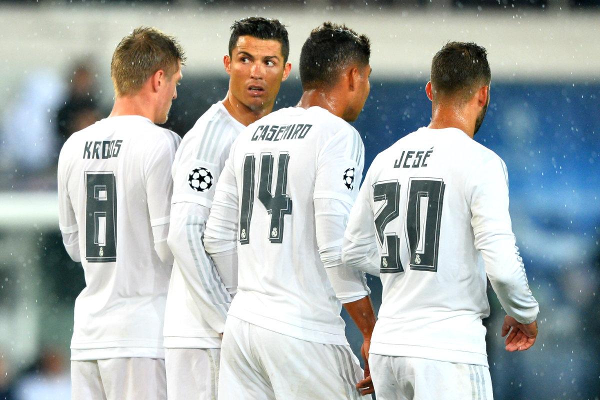 Jugadores del Real Madrid en el encuentro jugado en París (Foto: Getty).