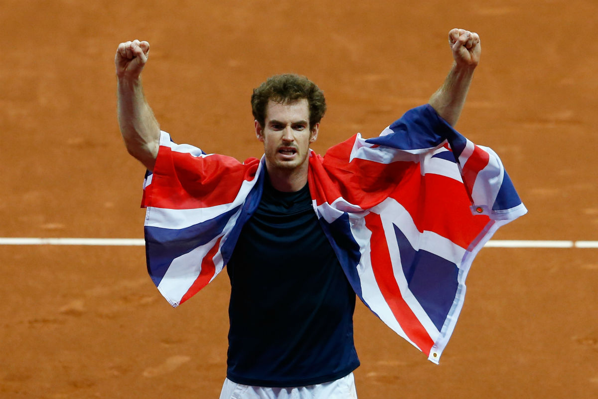 Andy Murray guió a Gran Bretaña hacia la Copa Davis  (Getty)