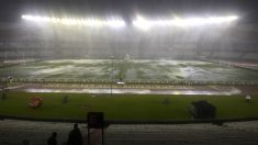 Un diluvio suspende el Argentina-Brasil: se jugará hoy a la 1:00 (Foto: AFP)