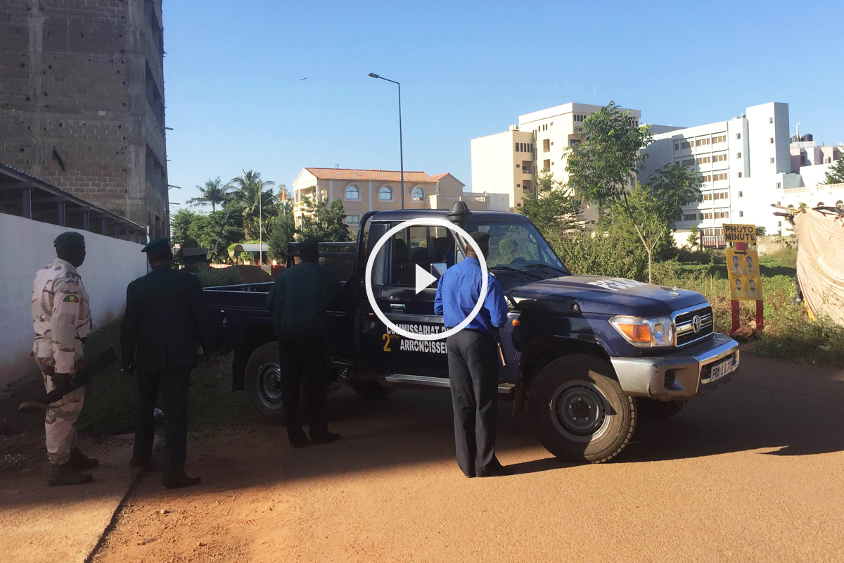 Exteriores del hotel Radisson Blu en Bamako. (Foto: AFP)