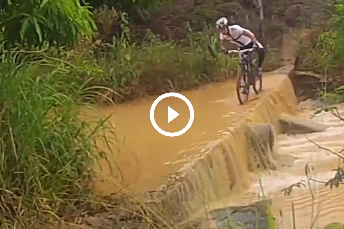 Caída en bici