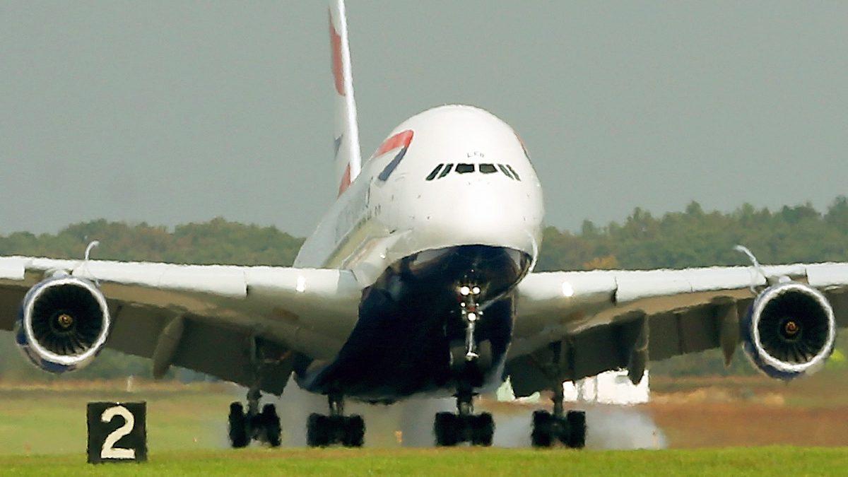Despegue de un A380 de British Airways. (Foto: AFP)
