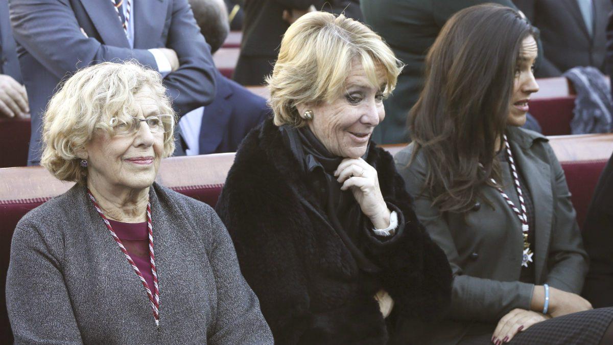 Manuela Carmena, Esperanza Aguirre y Begoña Villacís. (Foto: EFE)