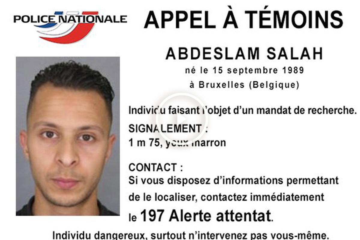 Ficha distribuída por la Policía francesa del octavo terrorista huido.