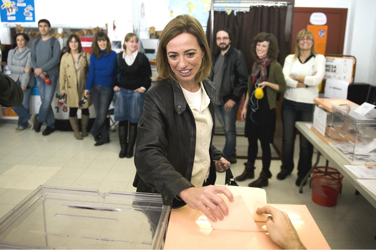 Carme Chacón, candidata del PSC a las elecciones generales del 20D