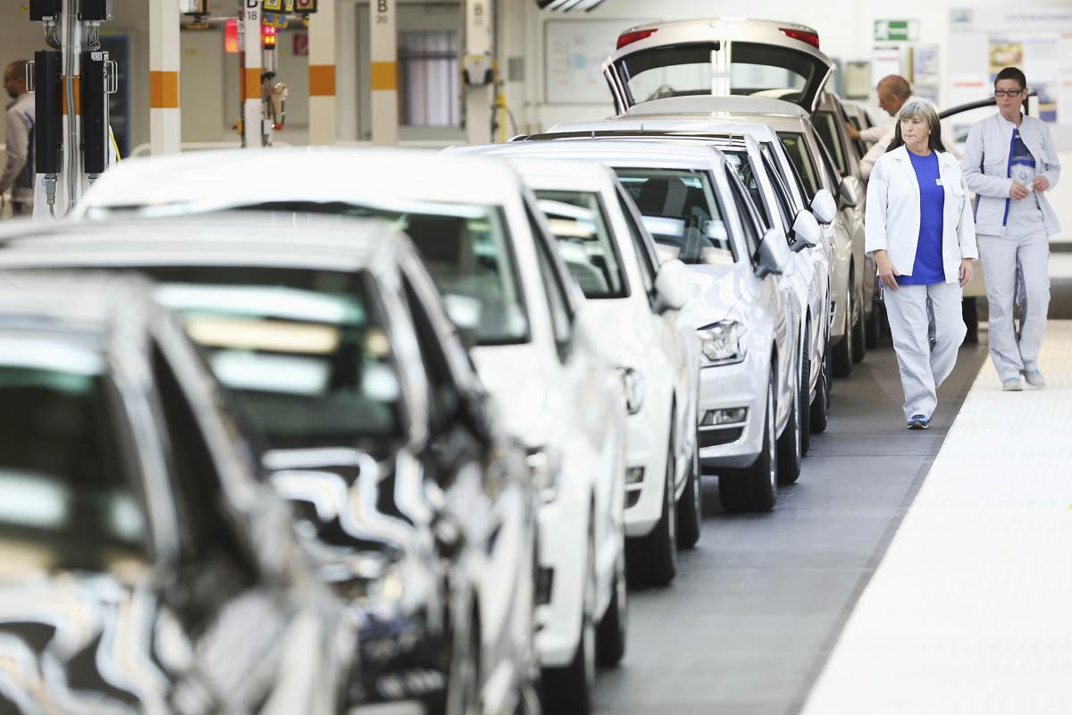 Planta de montaje de Volkswagen. (Foto: Getty)