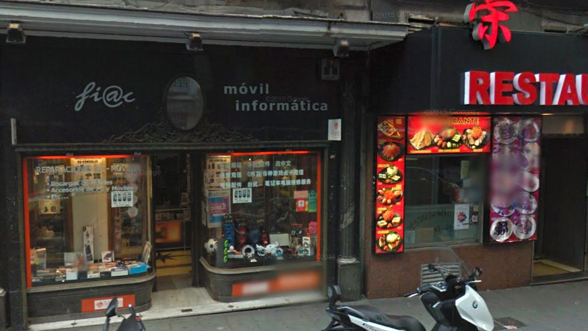 Comercios chinos en Madrid (Foto: Google Street View).