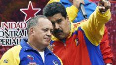 Diosdado Cabello junto a Nicolás Maduro. (Foto: AFP)