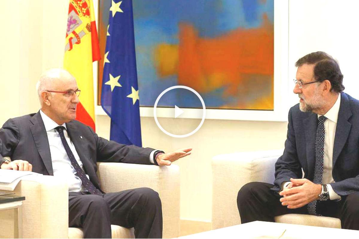 El líder de Unió, Josep Antoni Duran i Lleida, junto al presidente del Gobierno, Mariano Rajoy (Foto: Efe)
